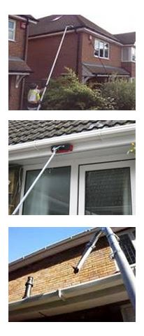 Gutter soffit and fascia cleaning in Lichfield